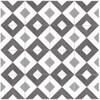Bella Glass Tiles Retro Nueve V Cut Encaustic Look