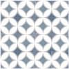 Bella Glass Tiles Retro Nueve Ocean Star Encaustic Look