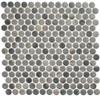 Bella Glass Tiles Polka Dots PLK62 Umbel Grey