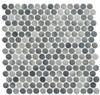 Bella Glass Tiles Polka Dots PLK65 Ombre Reef