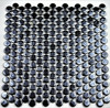 Bella Glass Tiles Hearth Palace Penny Round Opale Black HP1PROB