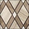 Bella Glass Tiles Diamond Series Wooden White or Athen Gray or Thassos White