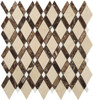 Bella Glass Tiles Diamond Series Crema Marfil or Emperador Dark or Thassos White