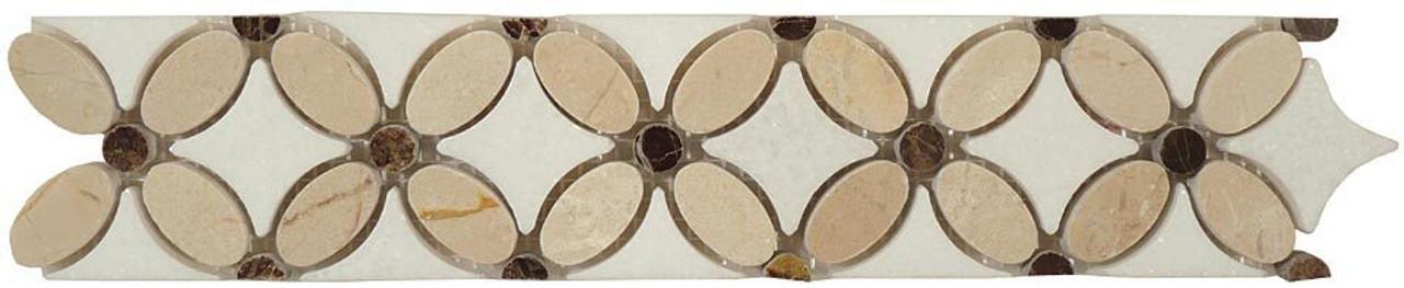 Bella Glass Tiles Flower Series FS-710L marble listello