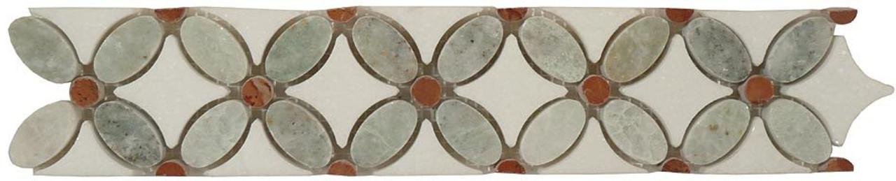Bella Glass Tiles Flower Series FS-720L marble listello