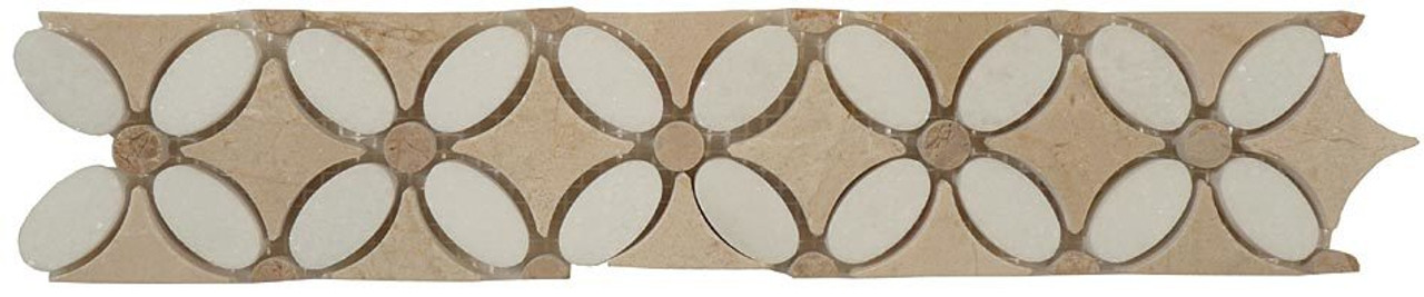 Bella Glass Tiles Flower Series FS-730L marble listello