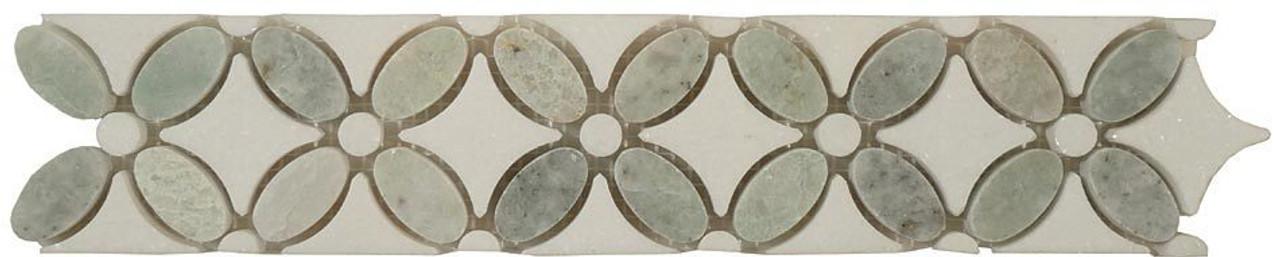 Bella Glass Tiles Flower Series FS-740L marble listello