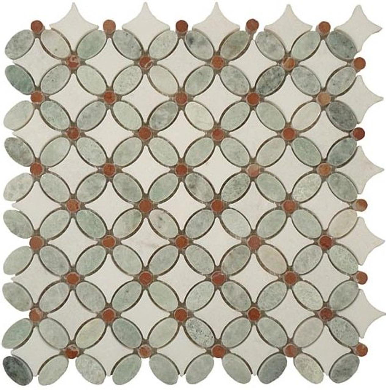 Bella Glass Tiles Flower Series FS-72 marble mosaic tile