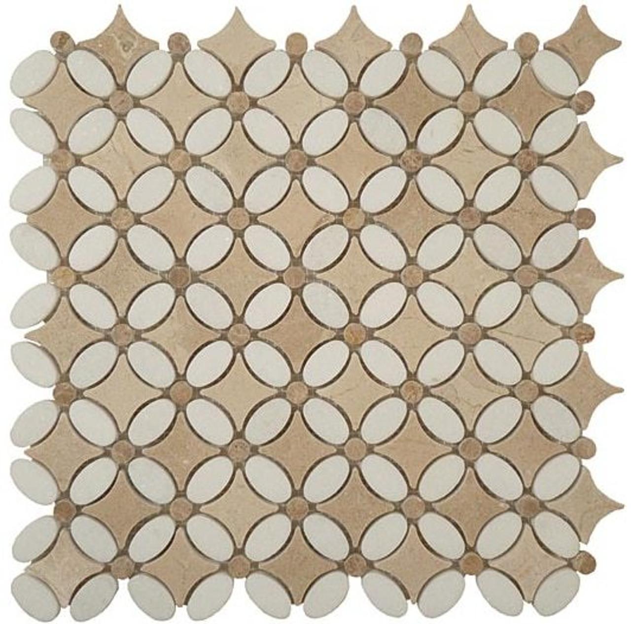 Bella Glass Tiles Flower Series FS-73 marble mosaic tile