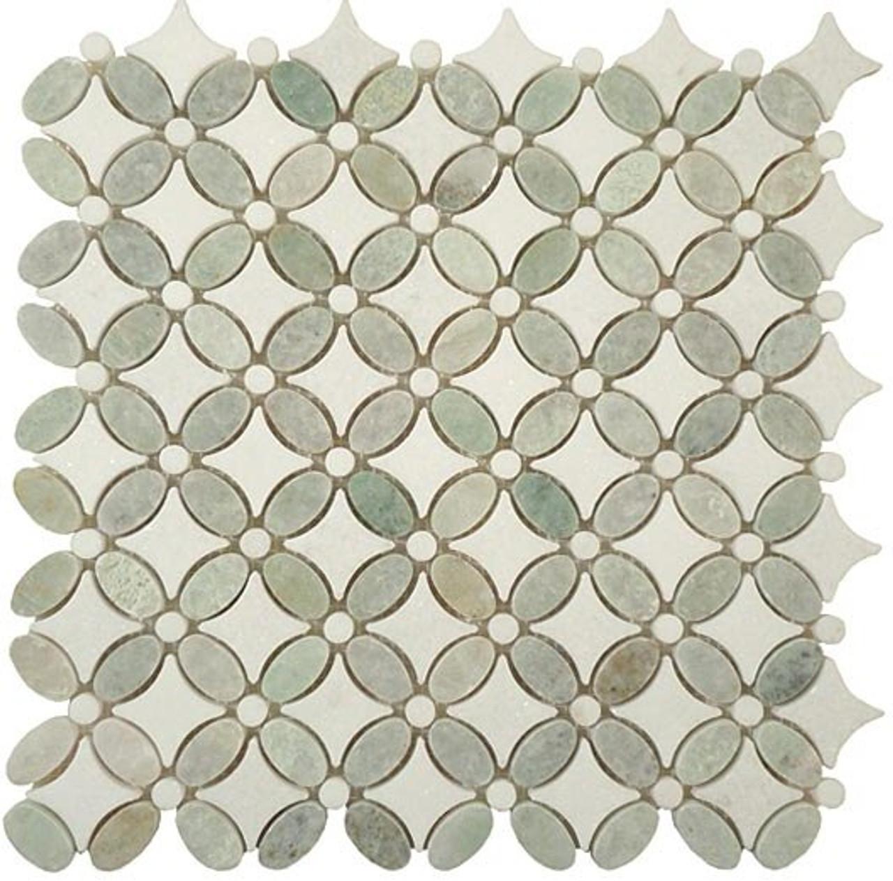 Bella Glass Tiles Flower Series FS-74 marble mosaic tile