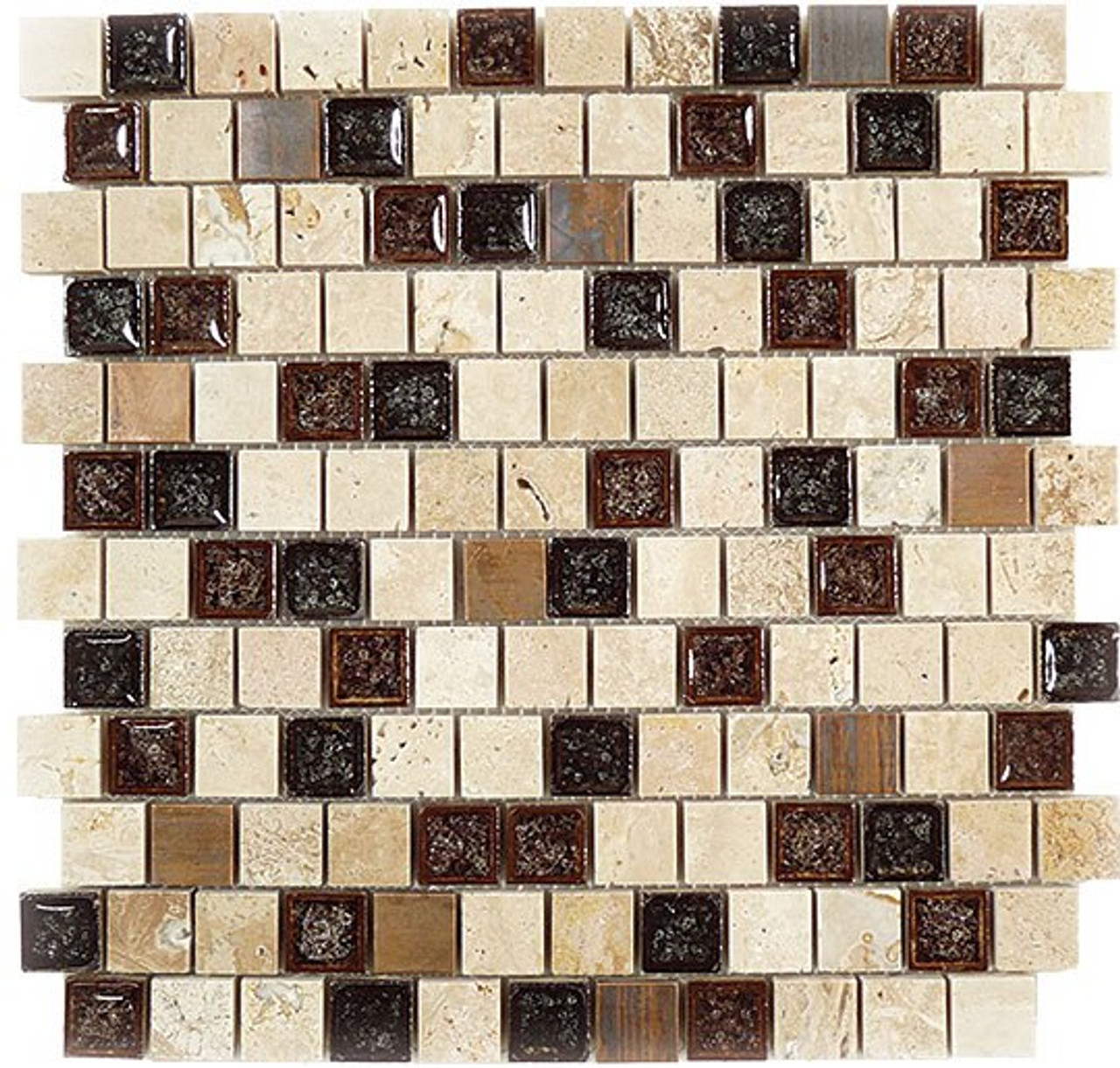 Bella Glass Tiles Tranquil Series Offset Spotted Dove