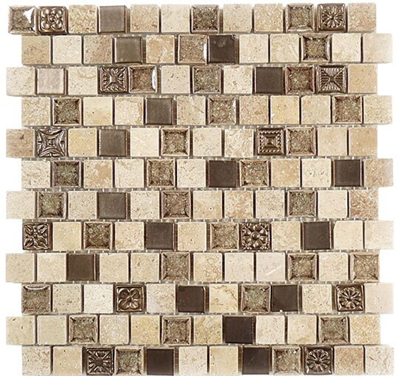 Bella Glass Tiles Tranquil Series Offset Ashen Forest