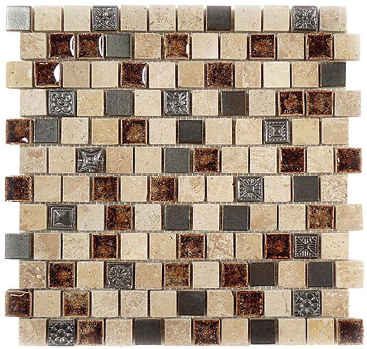 Bella Glass Tiles Tranquil Series Offset Russian Denim