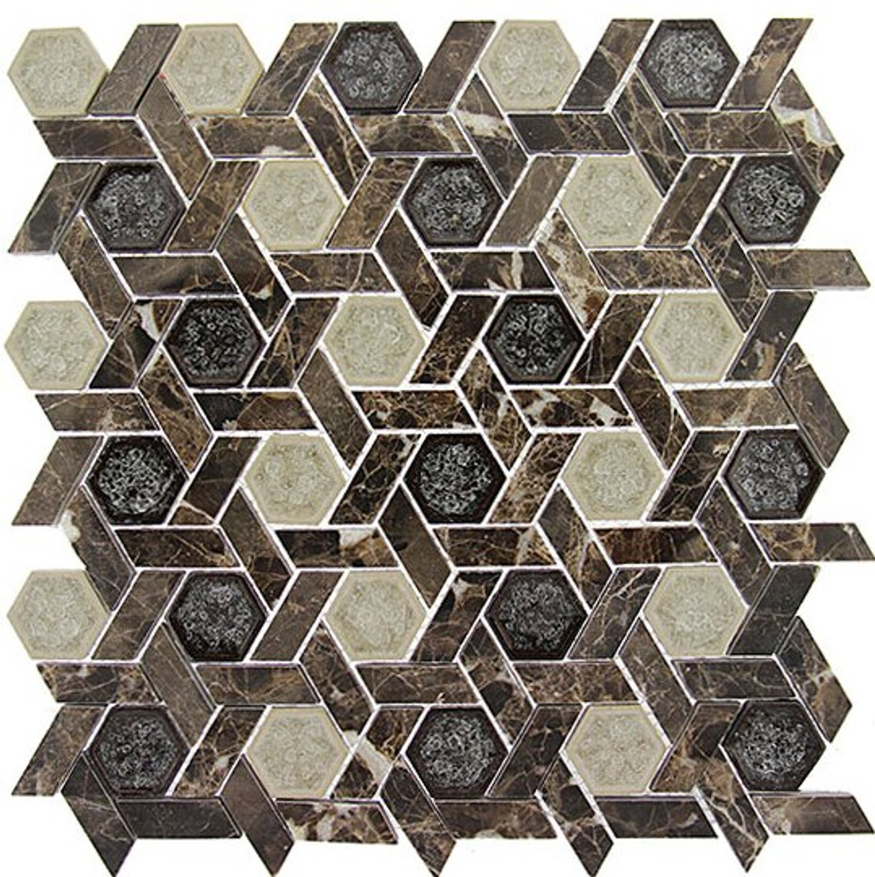 Bella Glass Tiles Tranquil Series Hexagon Capital Archive