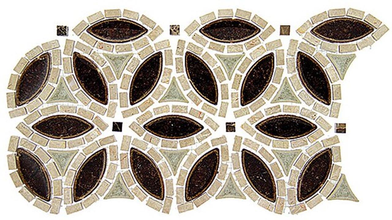 Bella Glass Tiles Tranquil Series Flower Ancient Market