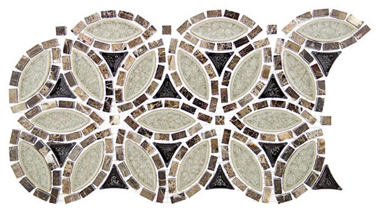Bella Glass Tiles Tranquil Series Flower Grecian Urn