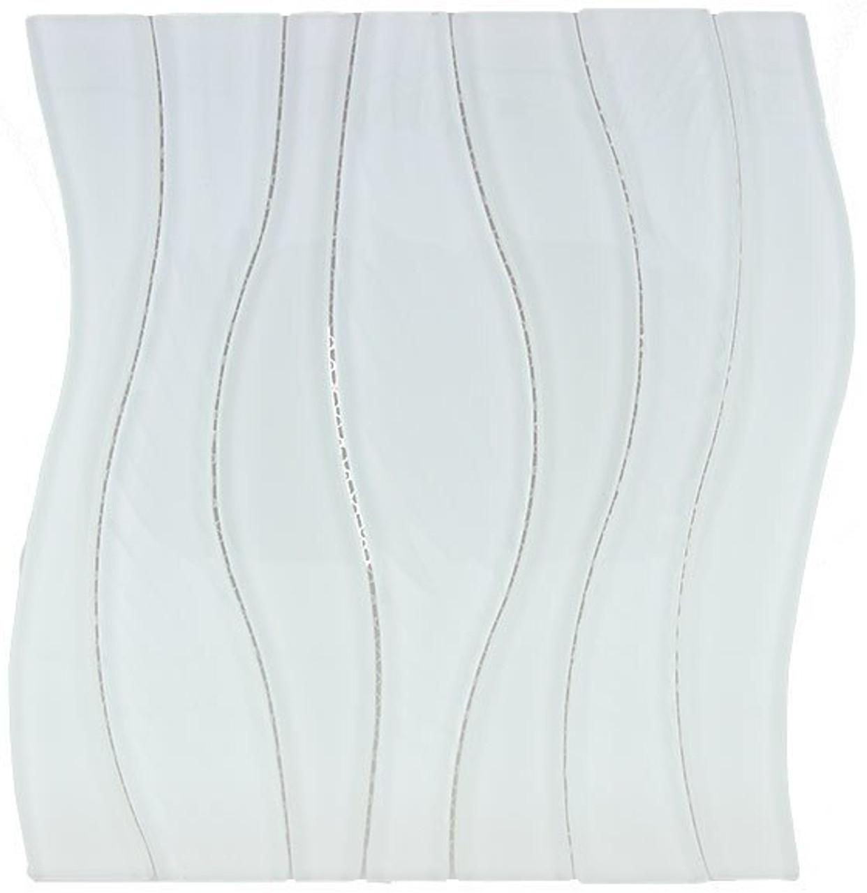 Bella Glass Tiles Waterfall Series White Rose