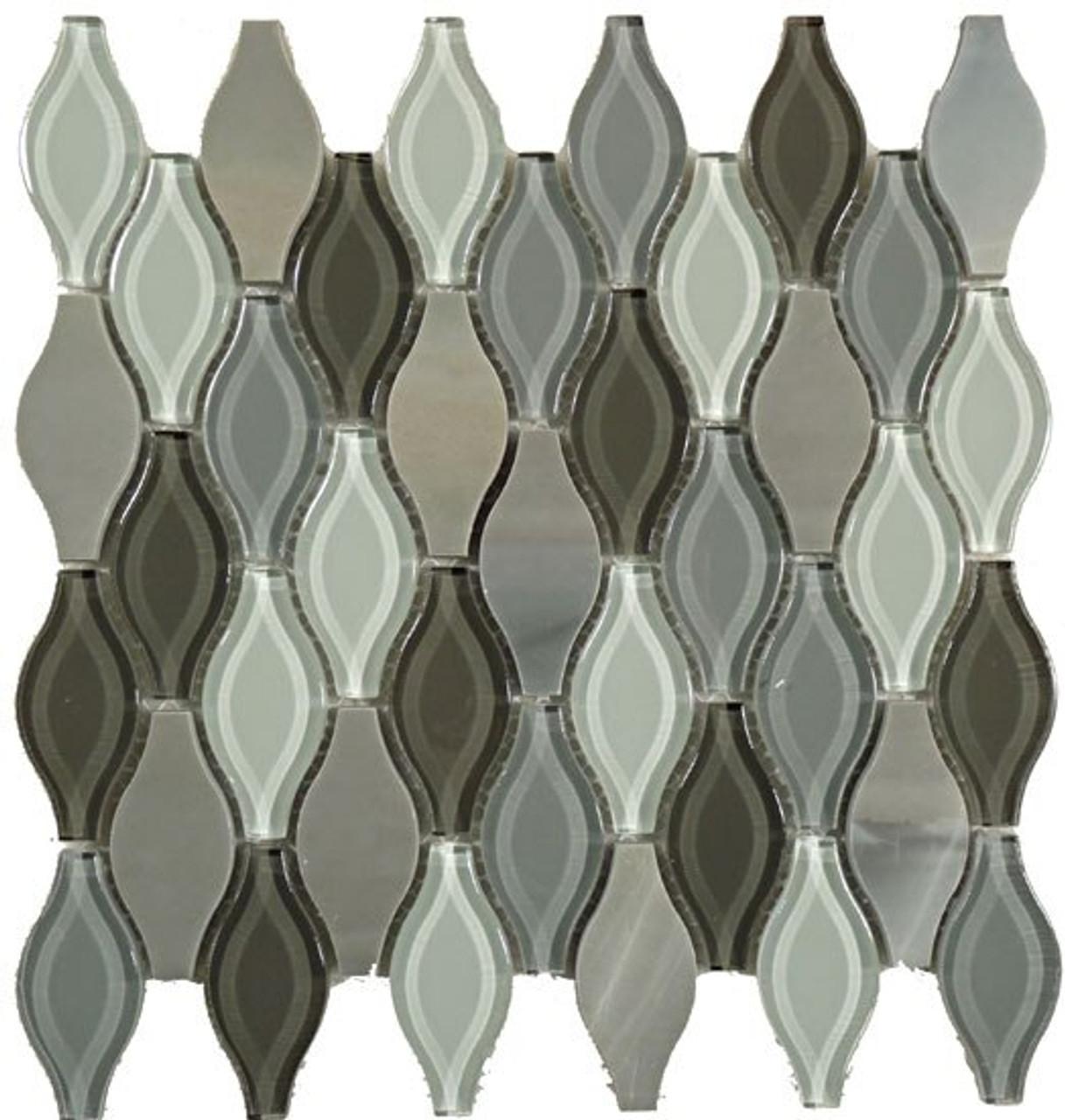 Bella Glass Tiles Seagull Series Polar Grey