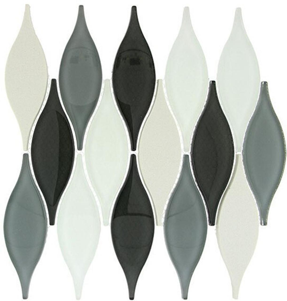 Bella Glass Tiles Chandelier Series Ascot Grey