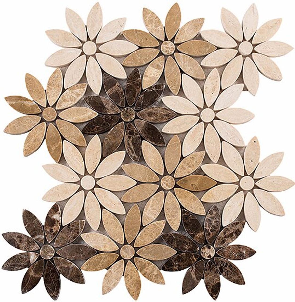 Bella Glass Tiles Bouquette Series Chestnut Blossoms