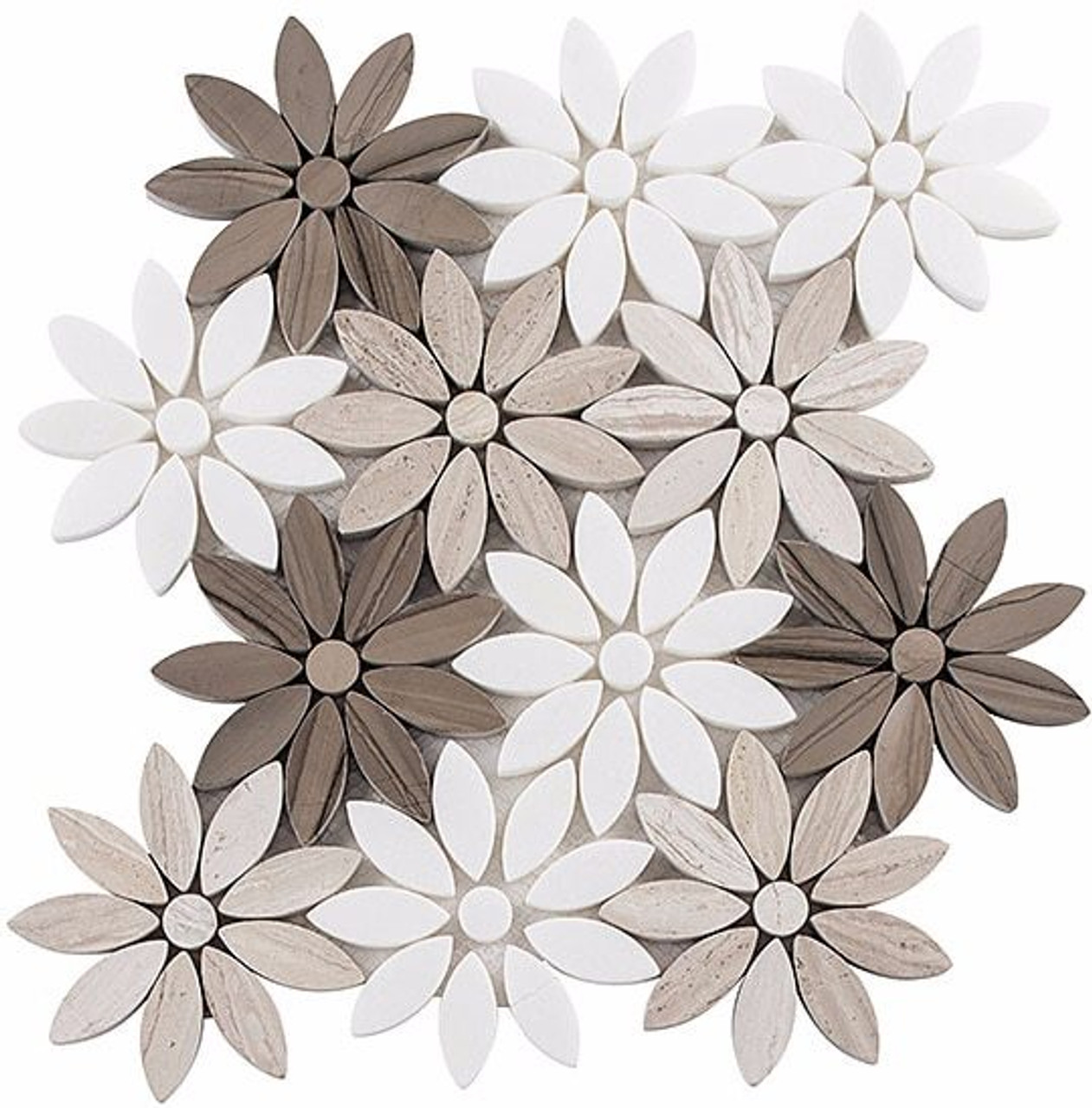Bella Glass Tiles Bouquette Series Fresh Bouquet