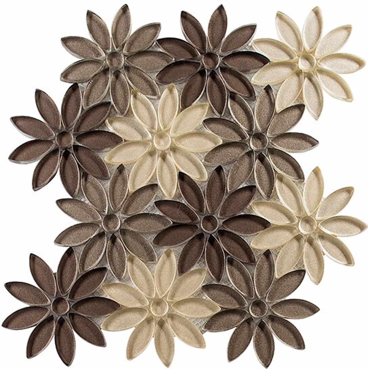 Bella Glass Tiles Bouquette Series Neutral Vase