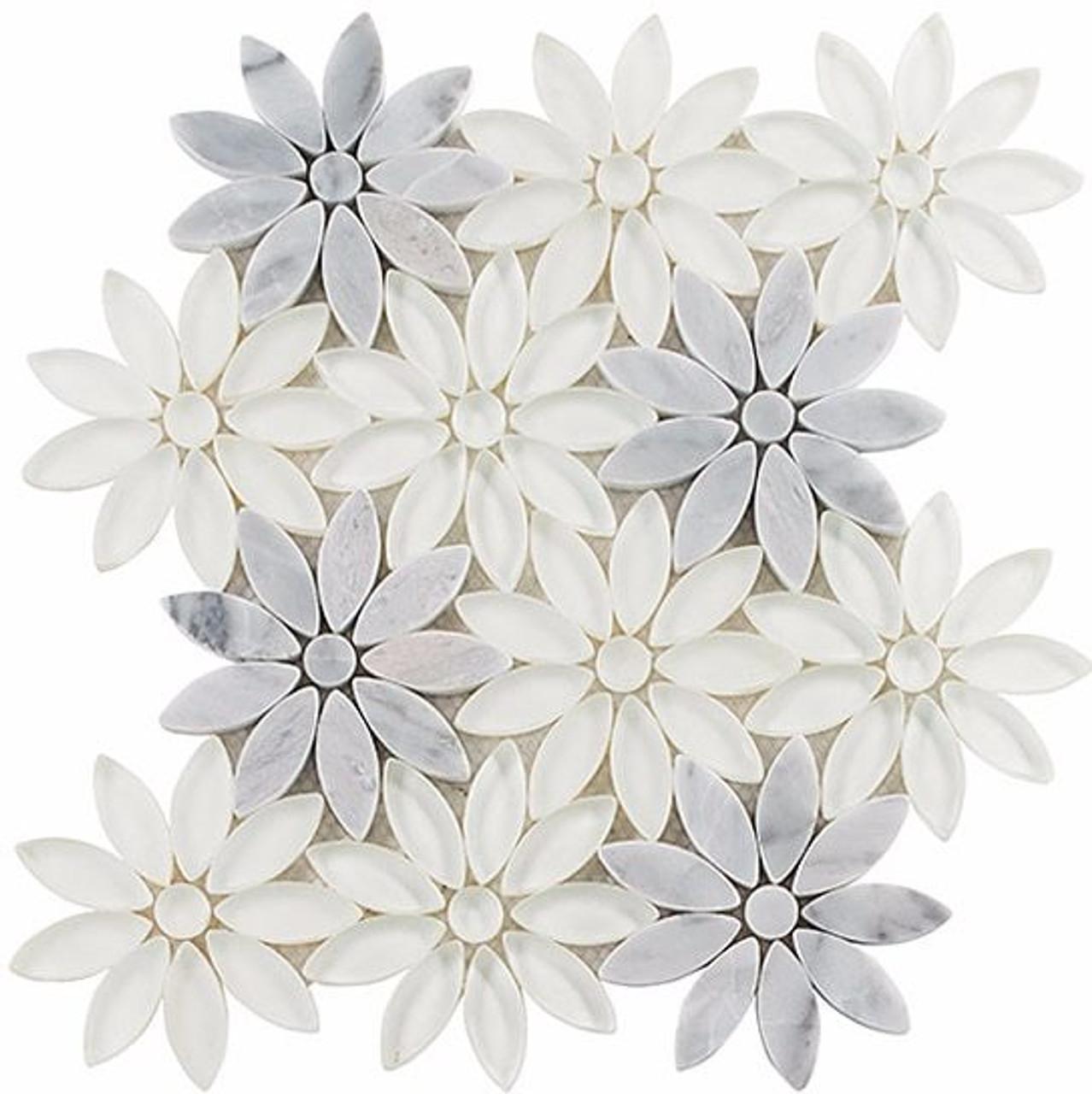 Bella Glass Tiles Bouquette Series Daisy Field