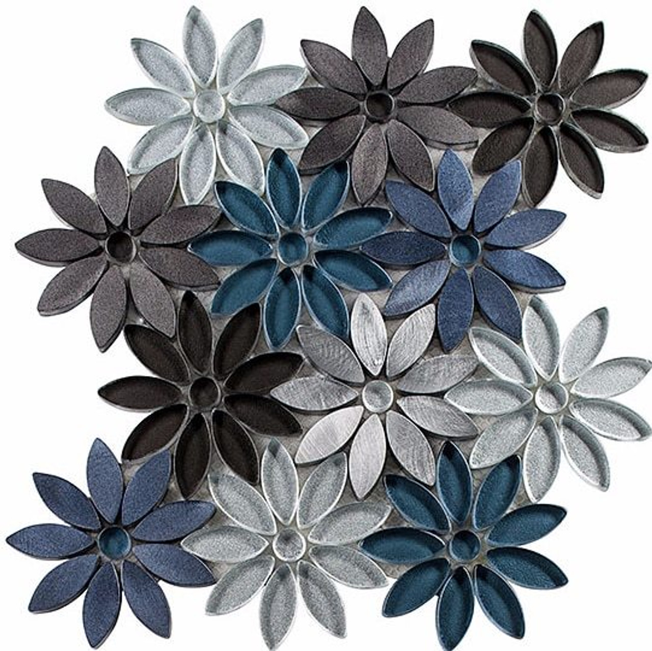 Bella Glass Tiles Bouquette Series Hydrangea Thicket