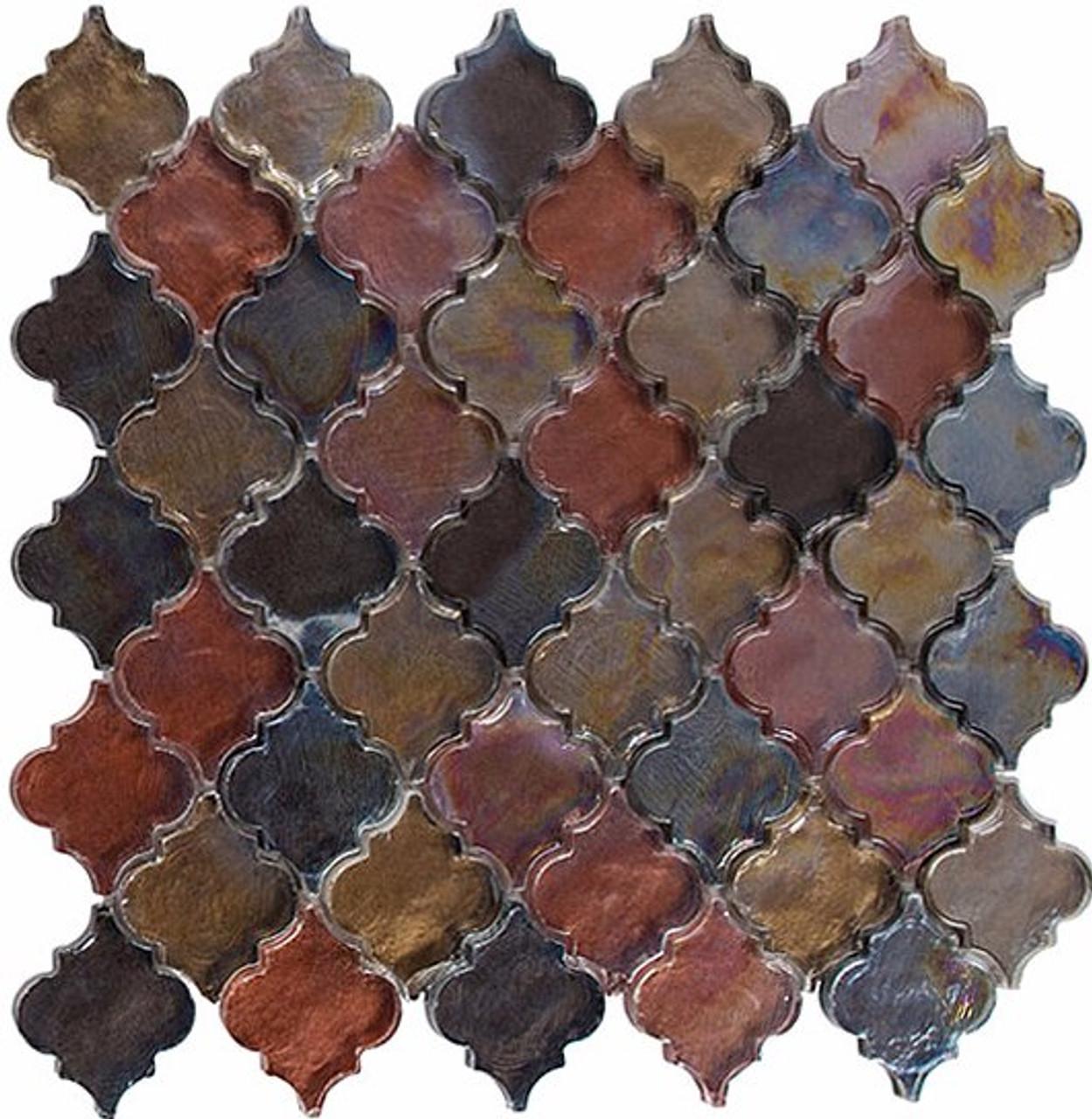 Bella Glass Tiles Dentelle Series Spectrum Ridge Glass Mosaic