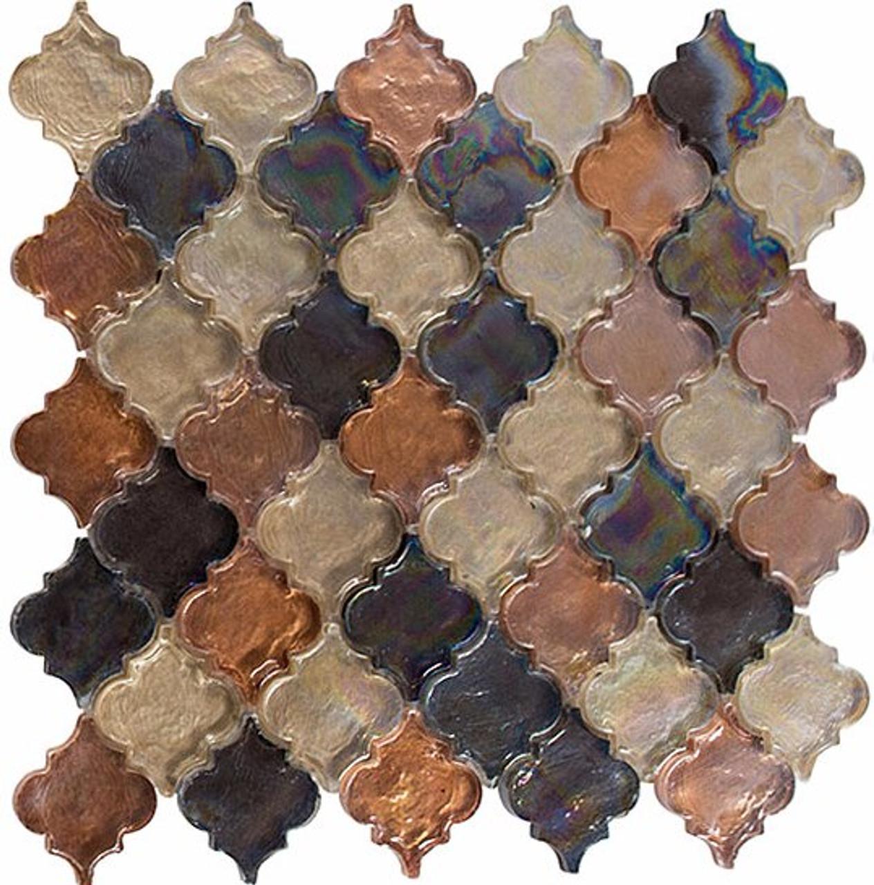 Bella Glass Tiles Dentelle Series Desert Range Glass Mosaic