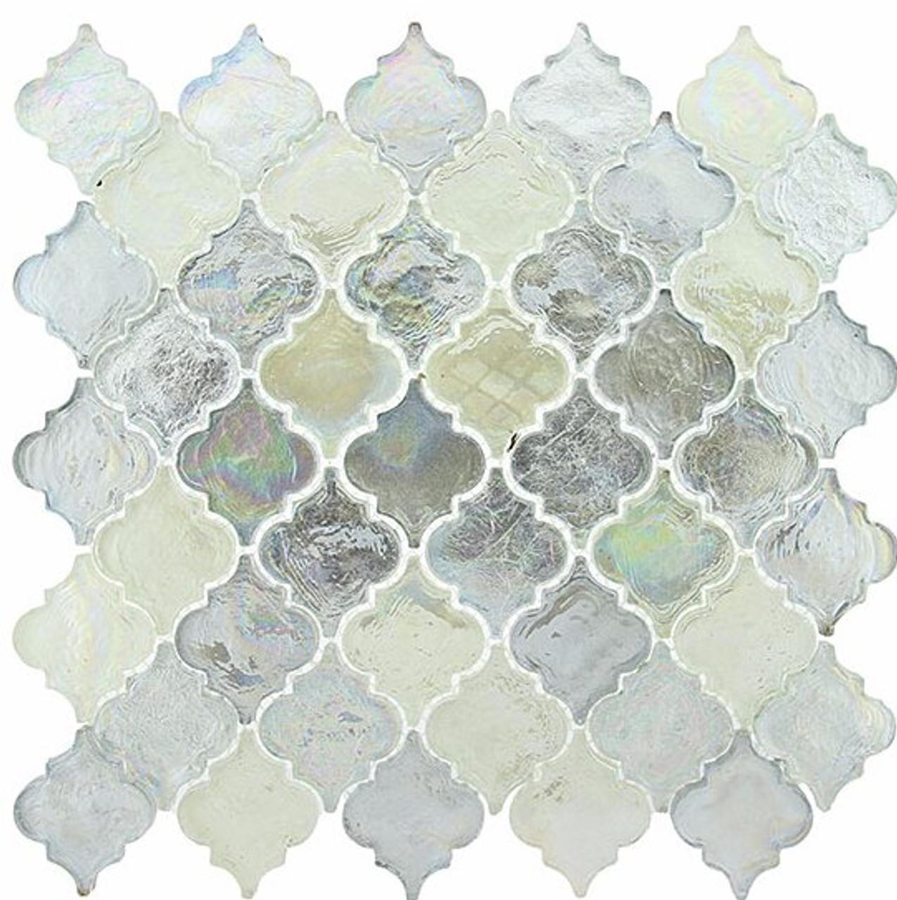 Bella Glass Tiles Dentelle Series April Shower Glass Mosaic