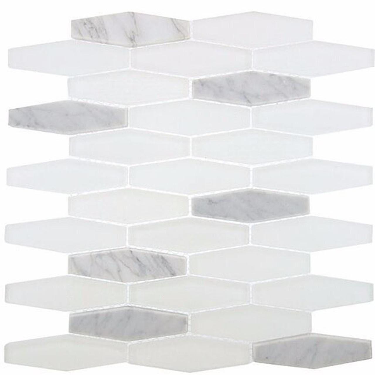 Bella Glass Tiles Astro Series Silver Scape STR-193