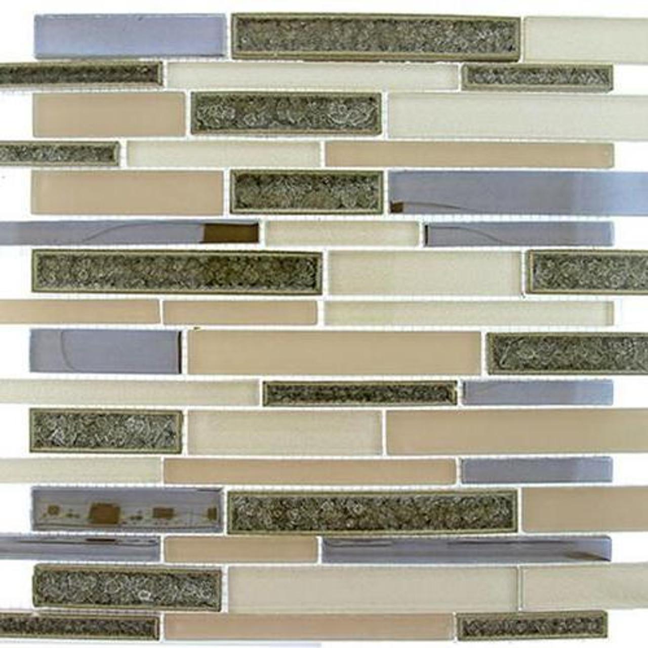 Bella Glass Tiles Bella Muro Series Harbour Beige