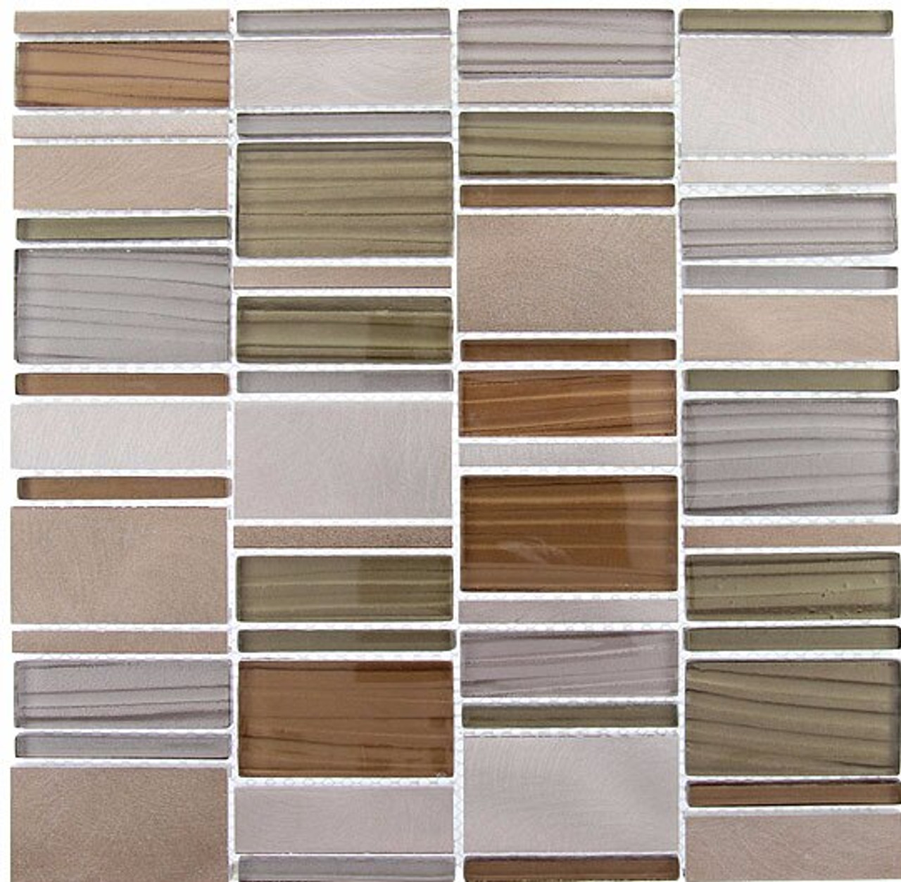 Bella Glass Tiles Corrugated Scapes Series Mustard Field CSS-123