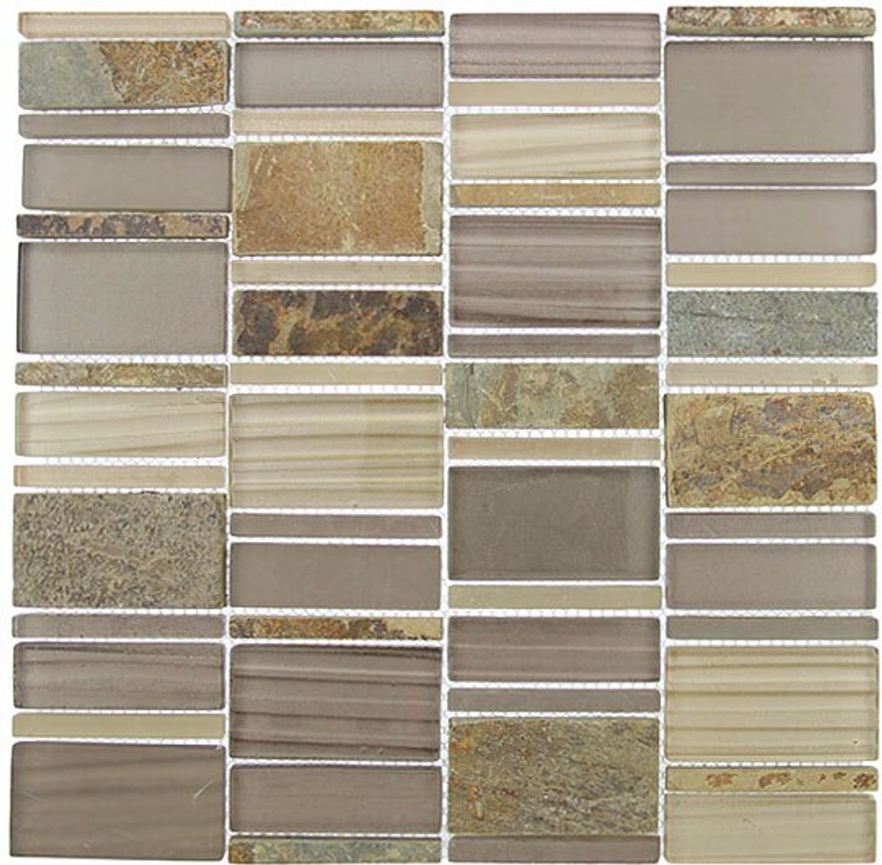 Bella Glass Tiles Corrugated Scapes Series Urban Pollen CSS-125