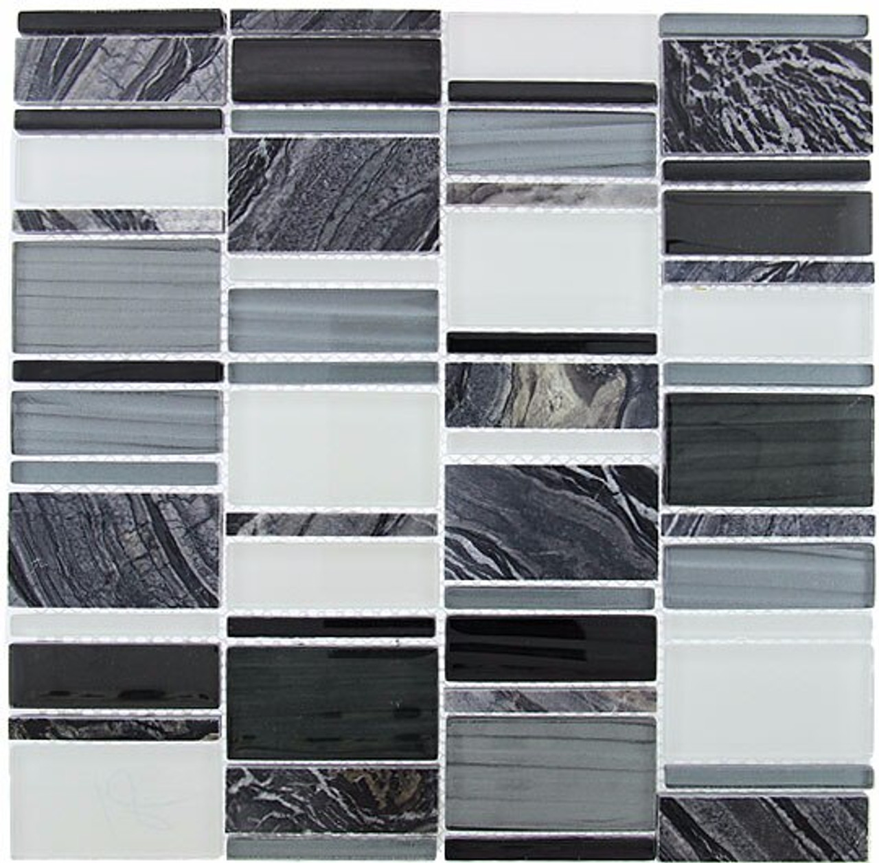 Bella Glass Tiles Corrugated Scapes Series Pepper Stalk CSS-127
