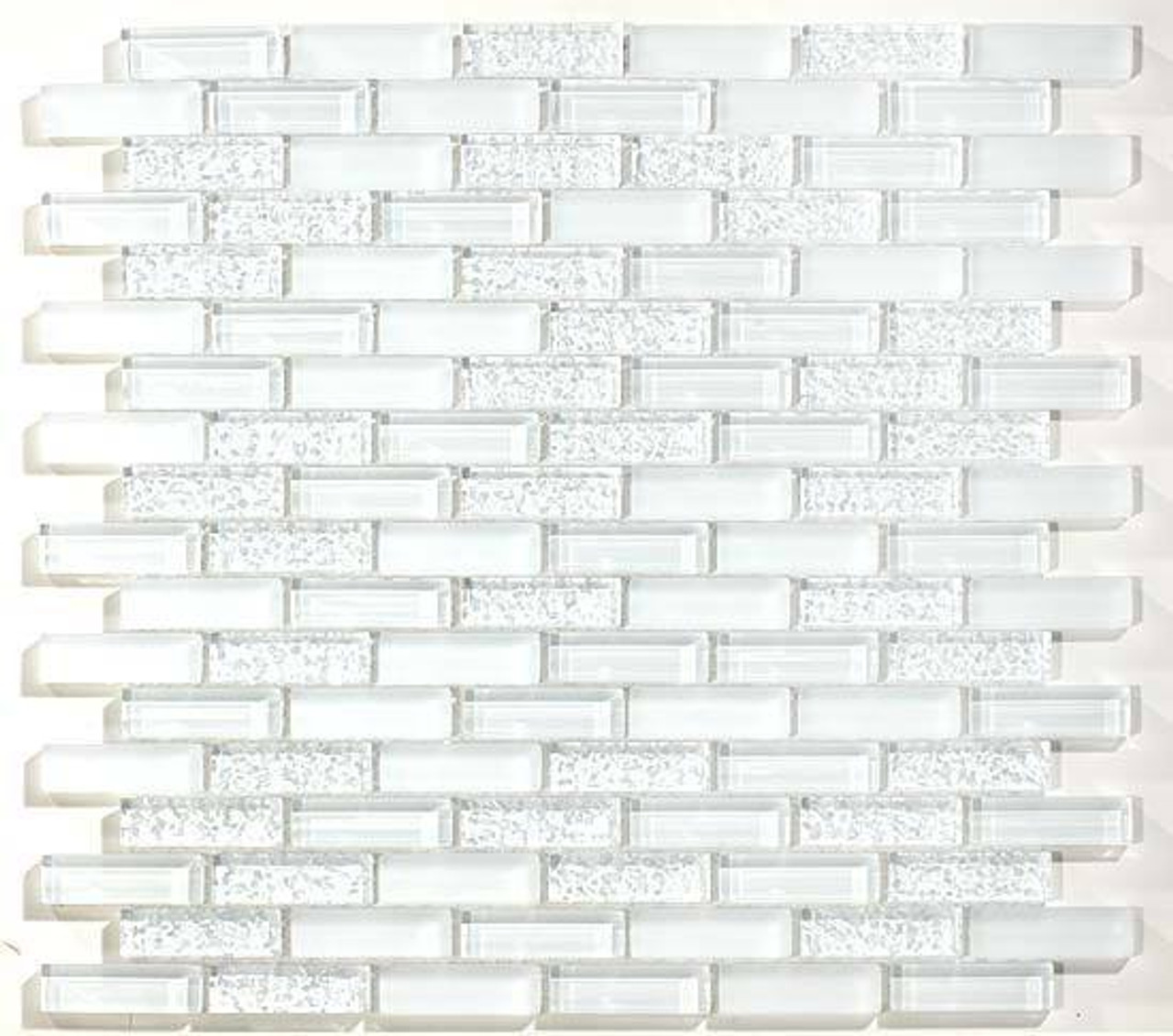 Bella Glass Tiles Glacier Series Matte, Glossy and Bumpy Crystile Brick