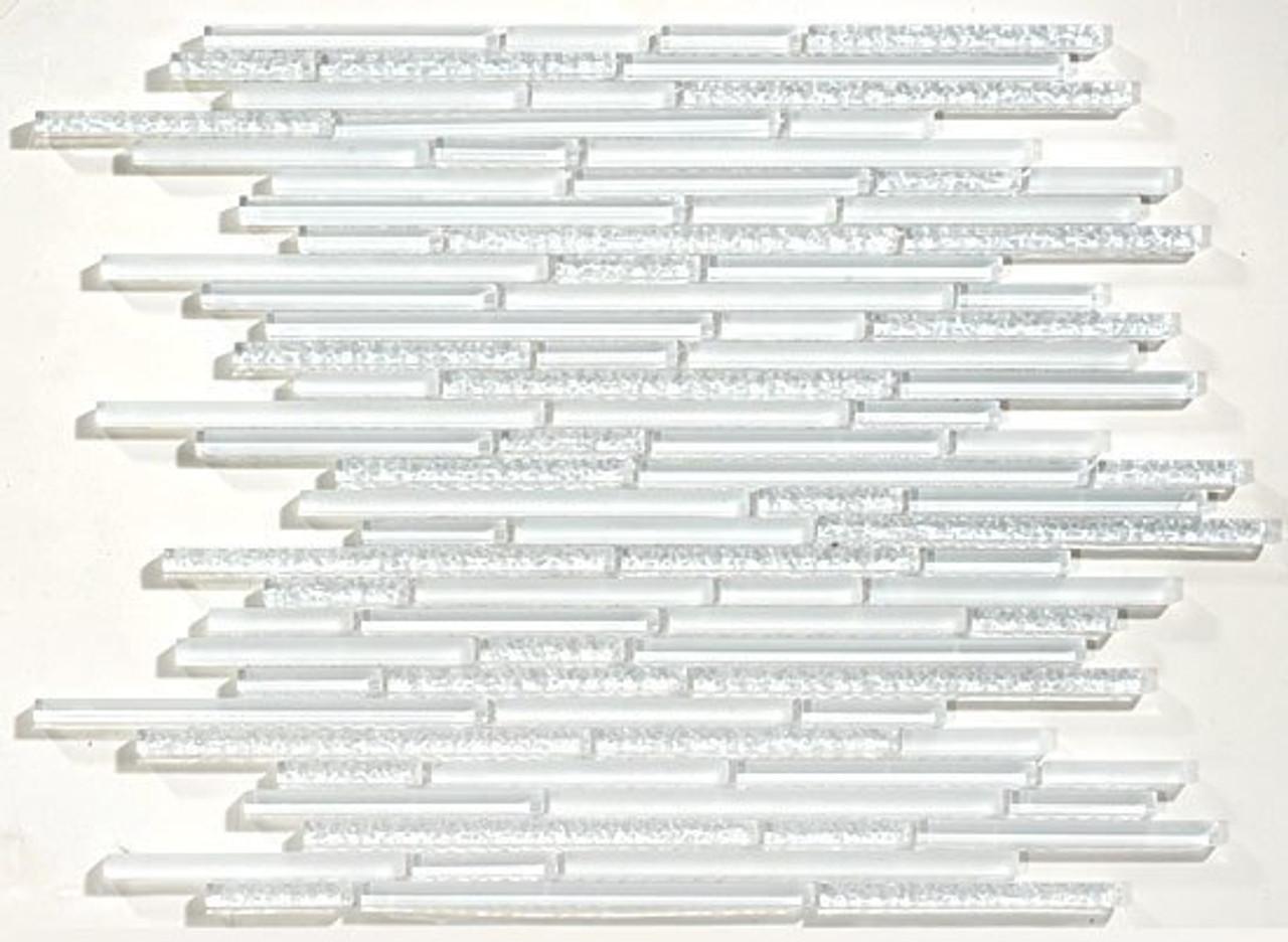 Bella Glass Tiles Glacier Series Random Bullets in Brick