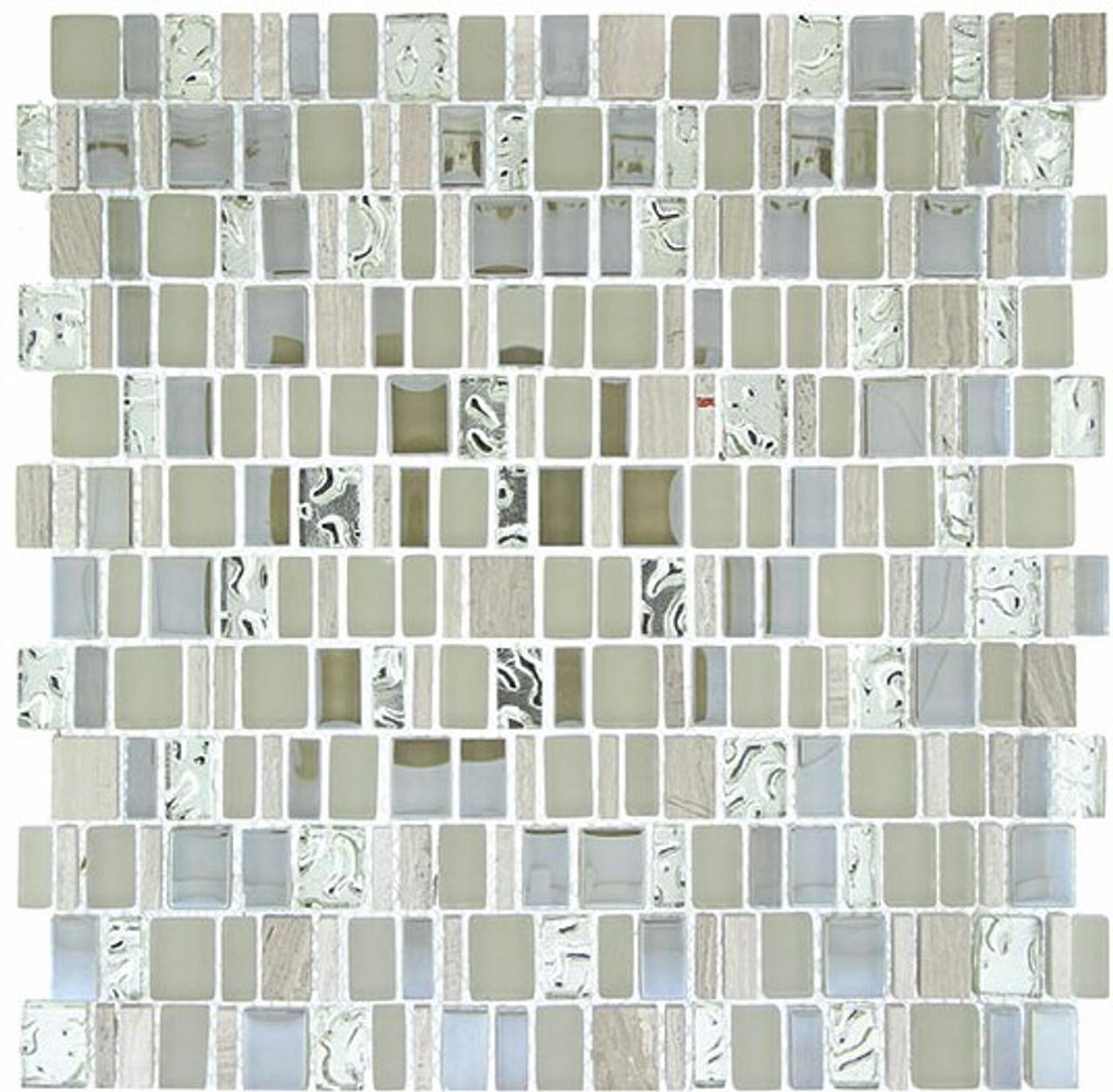 Bella Glass Tiles Enchanted Flavors Series Marsala Swirl EF-610