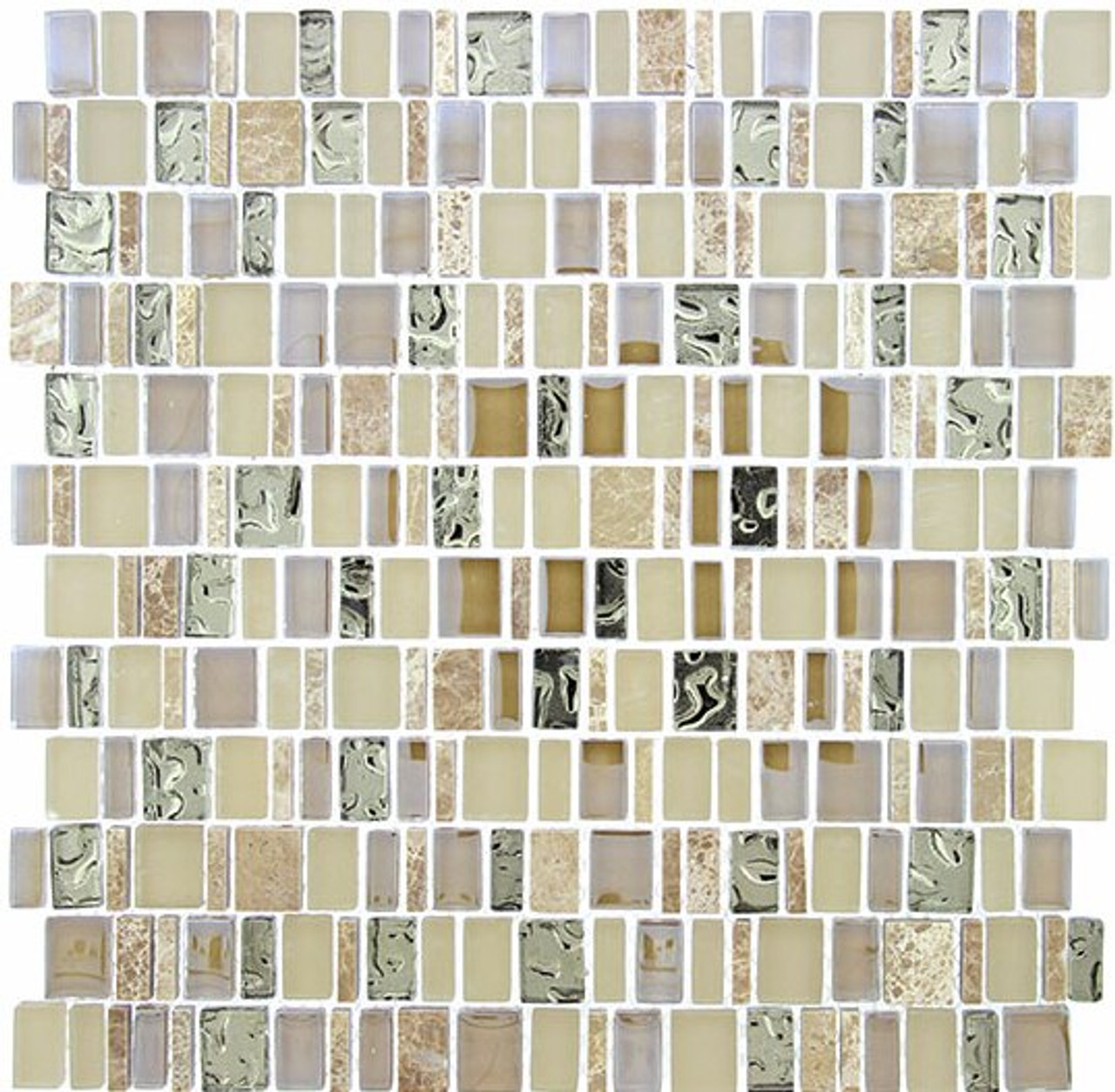 Bella Glass Tiles Enchanted Flavors Series Crunched Pecan