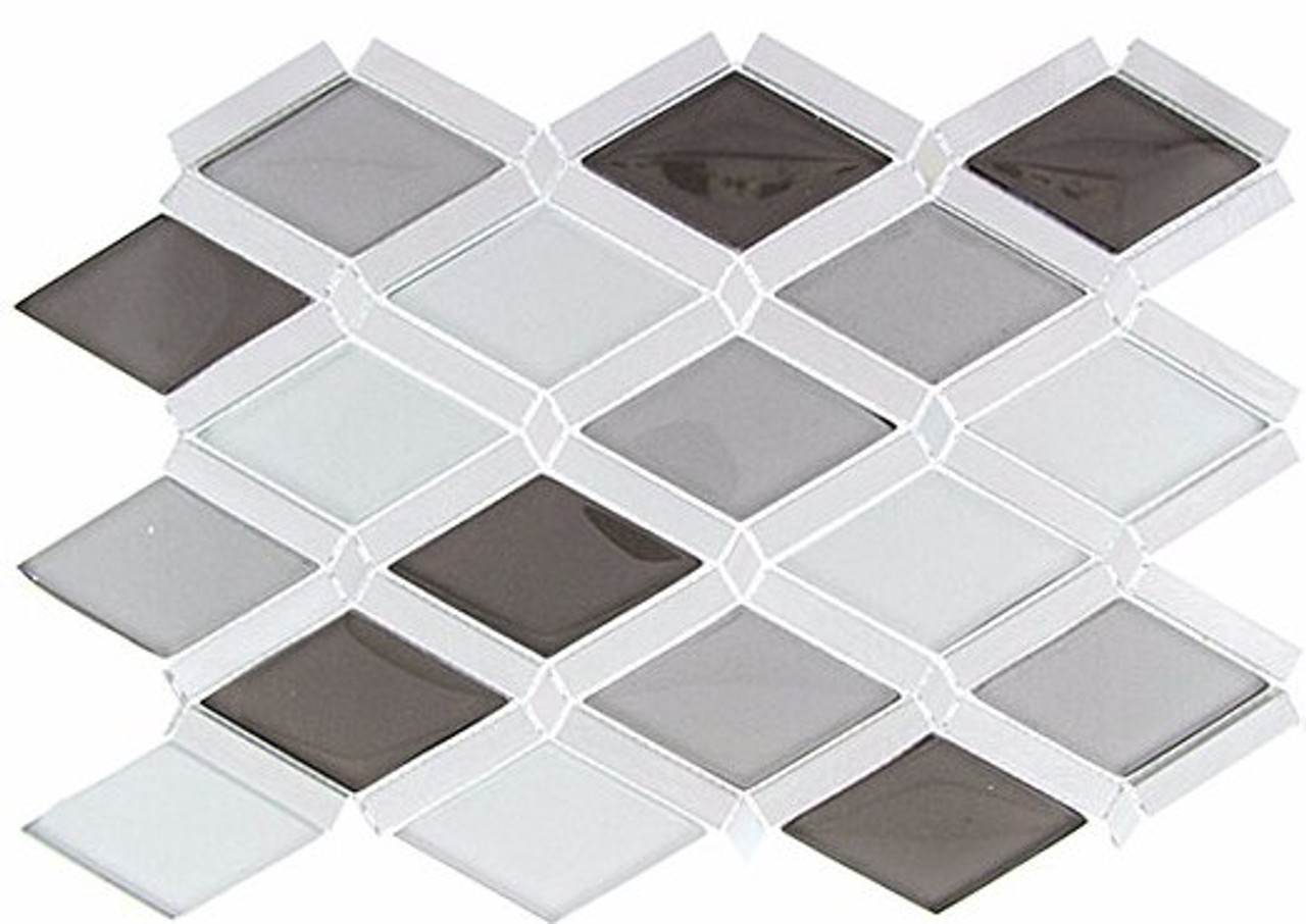 Bella Glass Tiles Falling Star Series Glass and Aluminum Silver Quill
