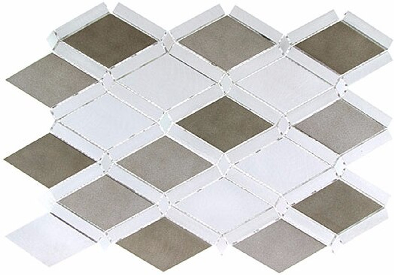 Bella Glass Tiles Falling Star Series Aluminum Jupiter Chrome