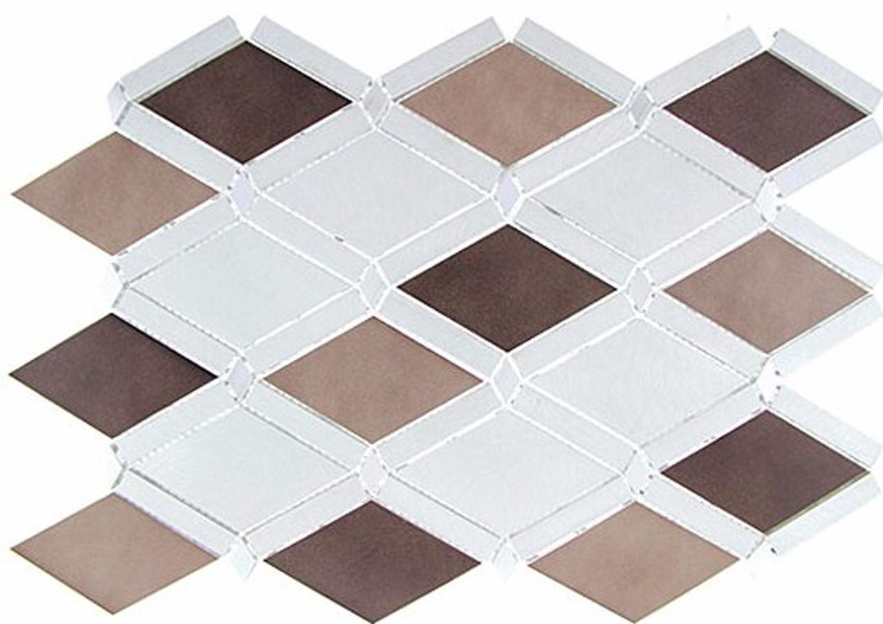 Bella Glass Tiles Falling Star Series Aluminum Ash Sable