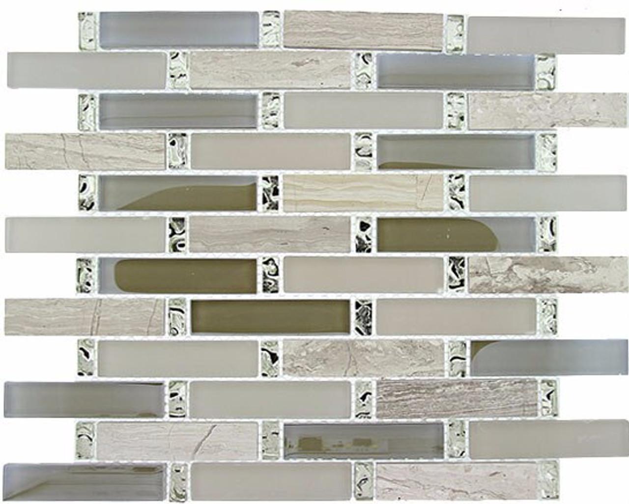 Bella Glass Tiles Interlace Series Milestone