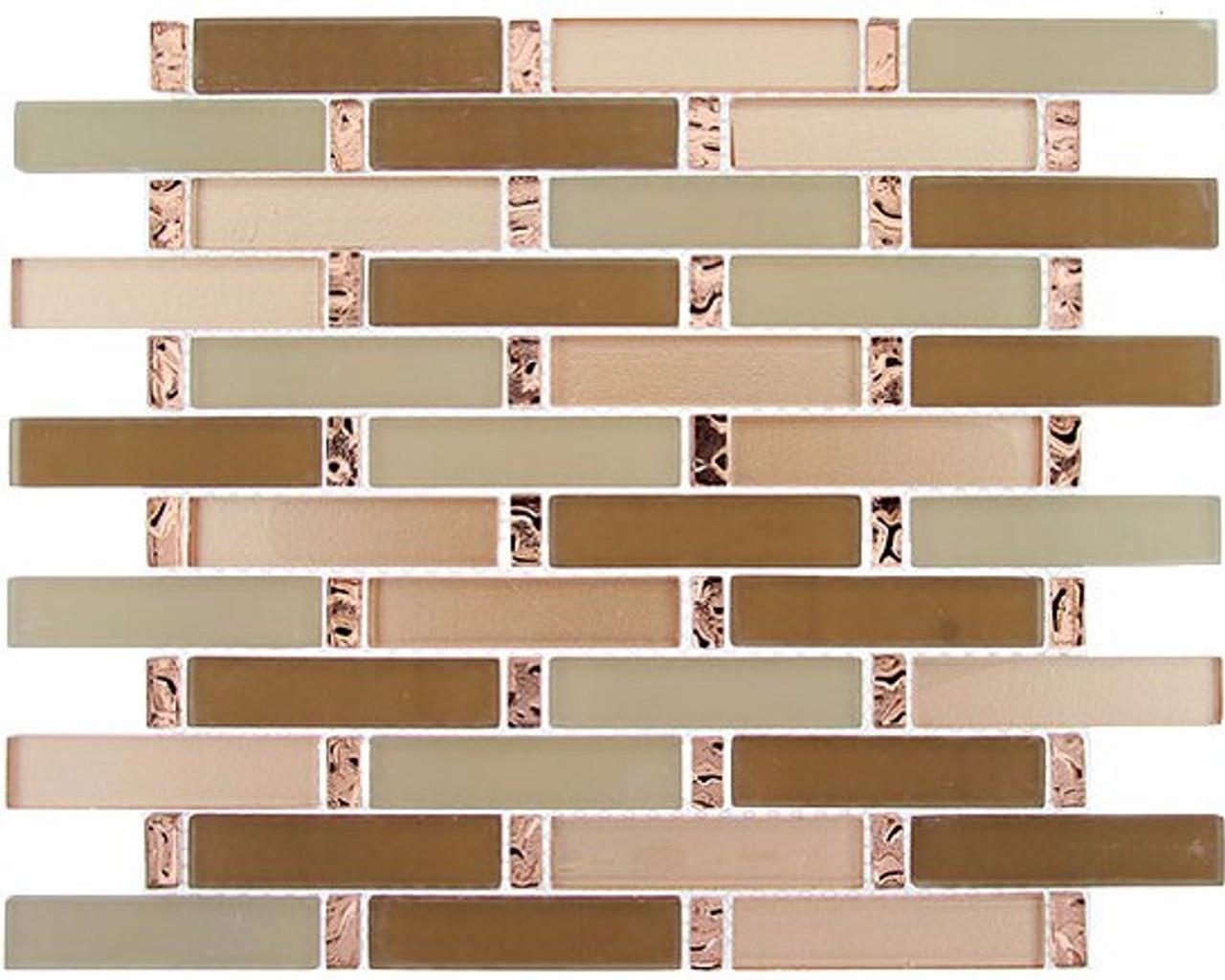Bella Glass Tiles Interlace Series Peach Field