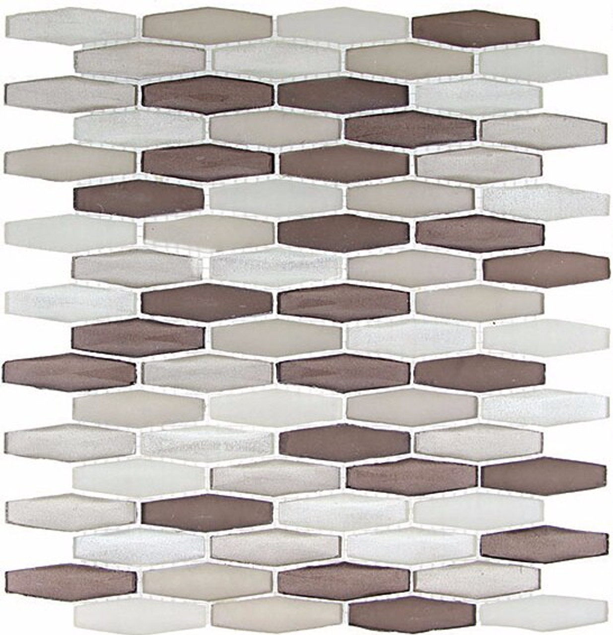 Bella Glass Tiles Modern Pyramids Navajo Dune