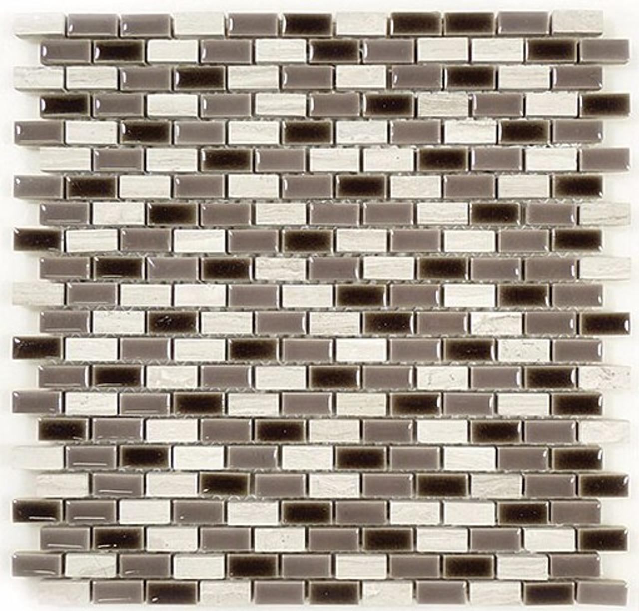 Bella Glass Tiles Porcello Series Silver Fox