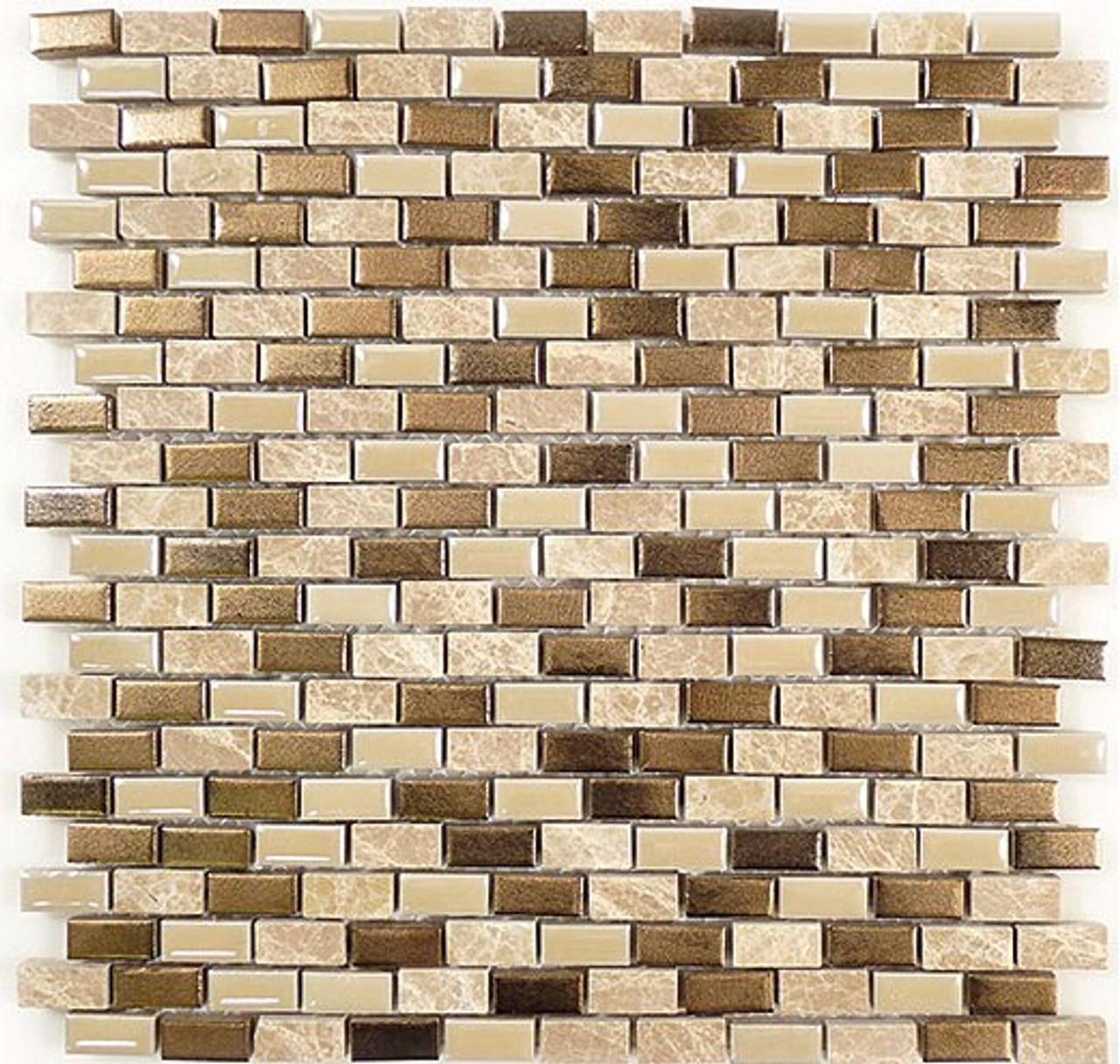 Bella Glass Tiles Porcello Series Golden Ocher