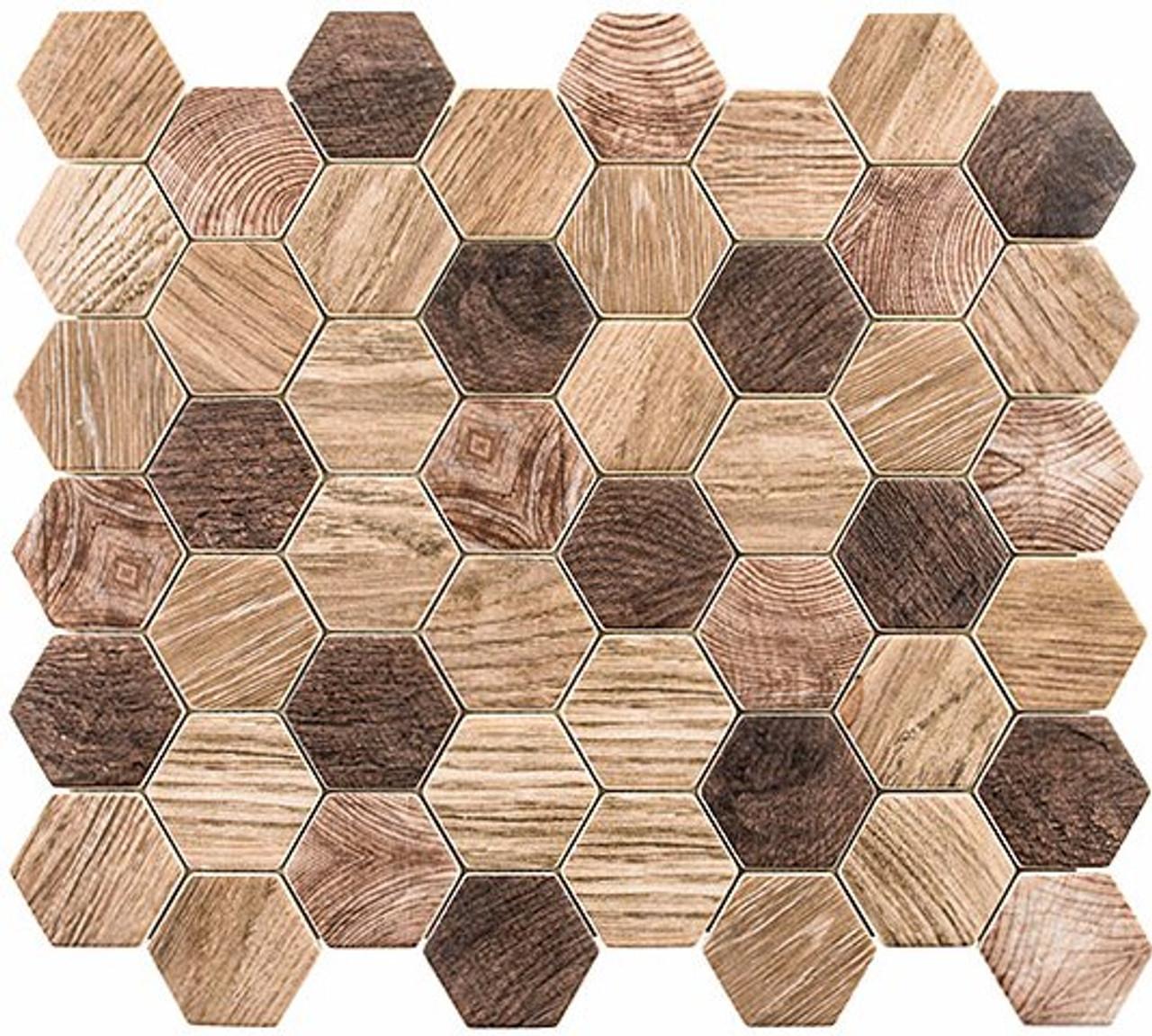 Bella Glass Tiles Woodland Series Western Redwood