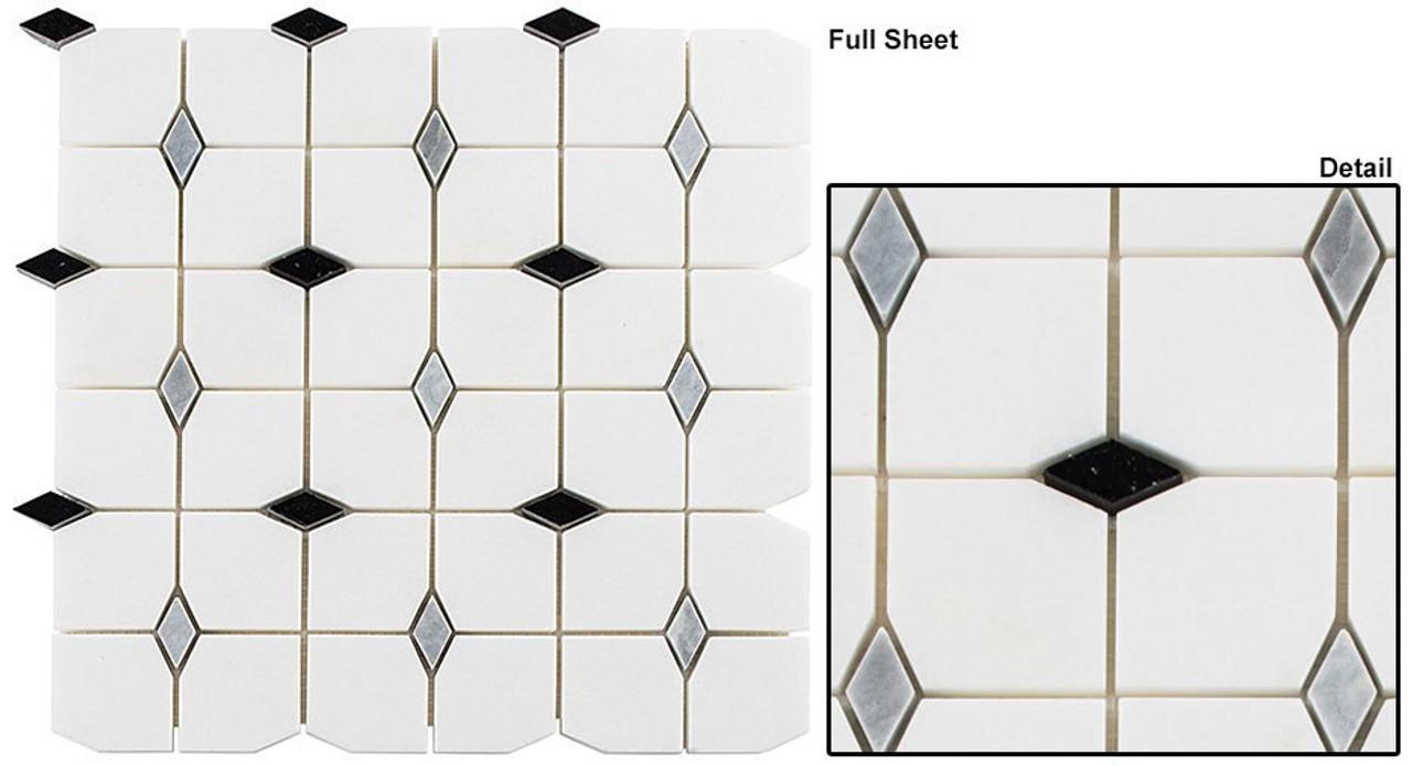 Bella Glass Tiles Kings Landing Royal Sable Stone Mosaic